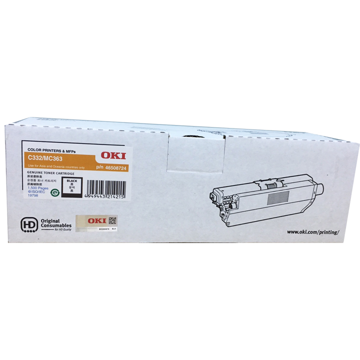 Mực in OKI C332dn Black Toner Cartridge