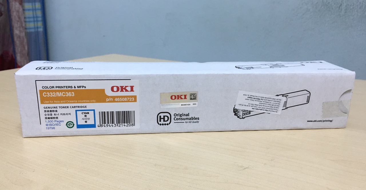 Mực in OKI C332dn Cyan Toner Cartridge